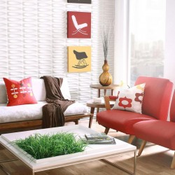 Architect Pattern Design 3D Glue On Wall Panel / Wall Flats - Box of 10 (22.50 sqft)