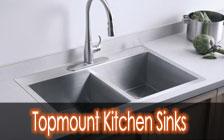 Topmount kitchen sink