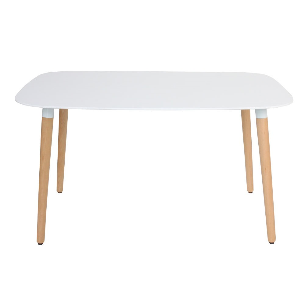 Eames style dsw white rectangular dining table for New style dining table