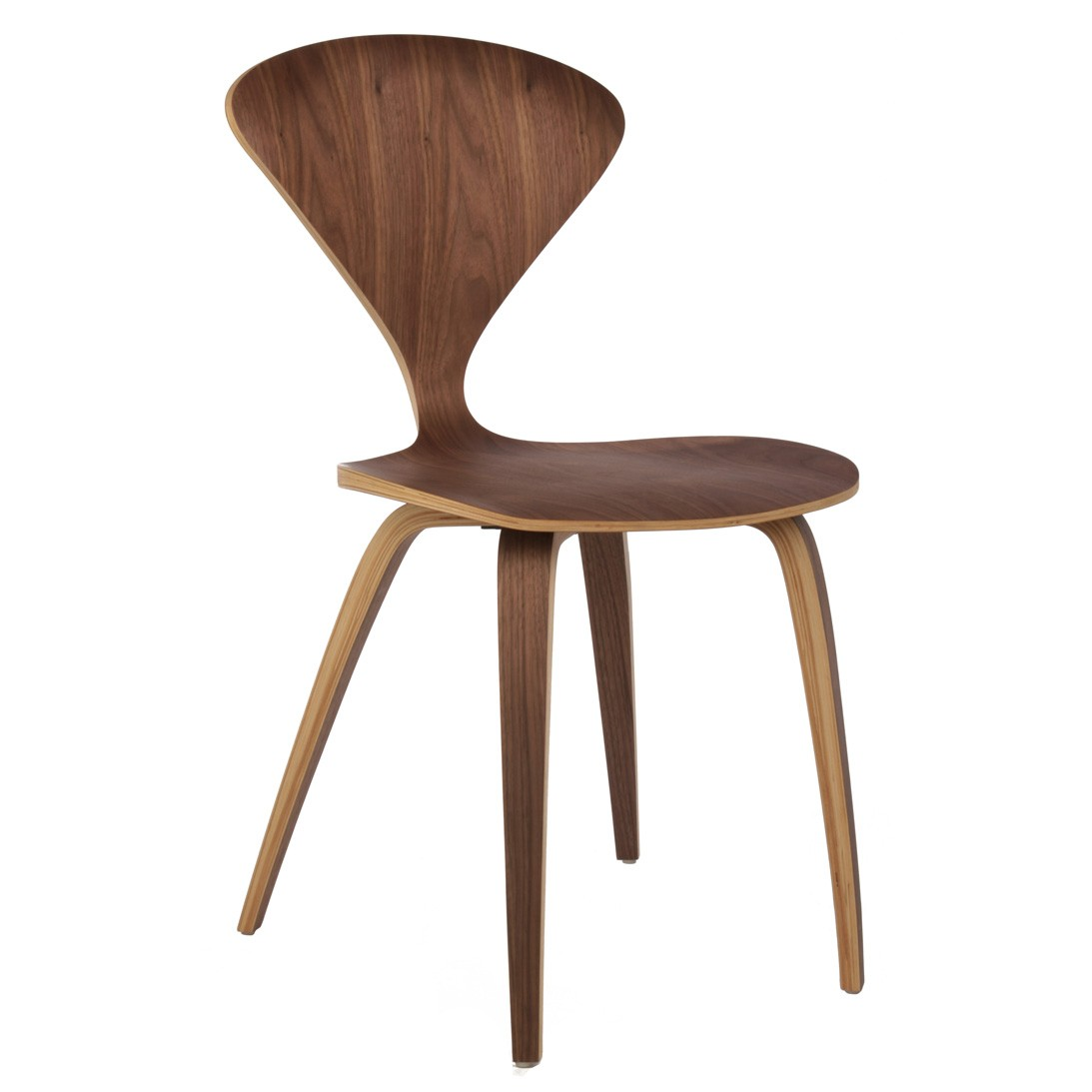 home cherner style plywood walnut wooden dining side chair