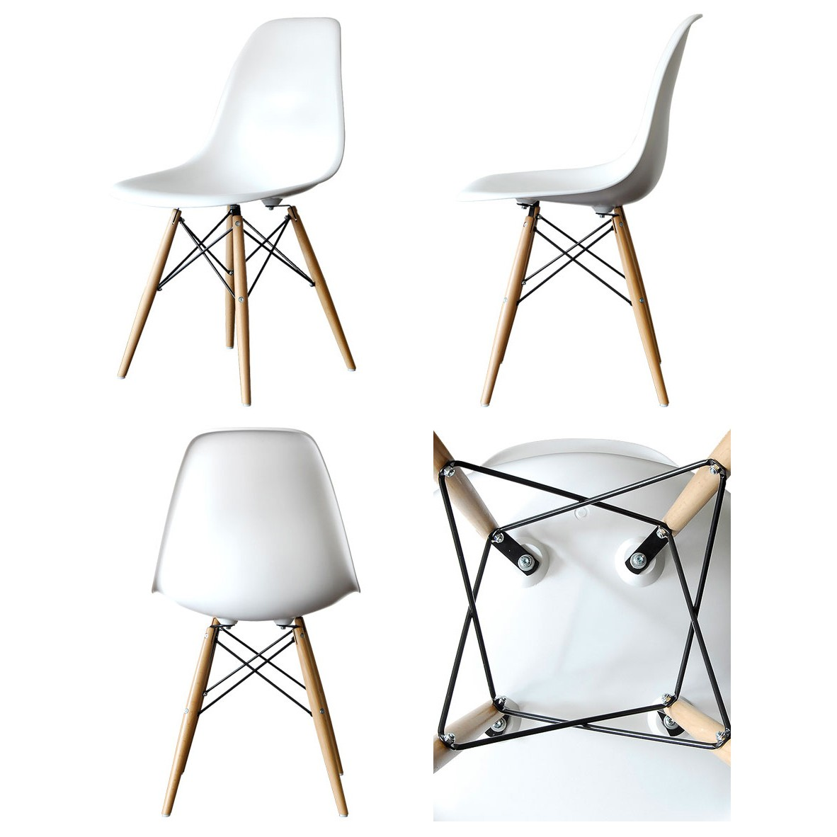 Display Gallery Item 1  Display Gallery Item 2  Set of 4 Eames Style DSW Molded White Plastic Dining Shell Chair  . Eames Daw Chair Price. Home Design Ideas