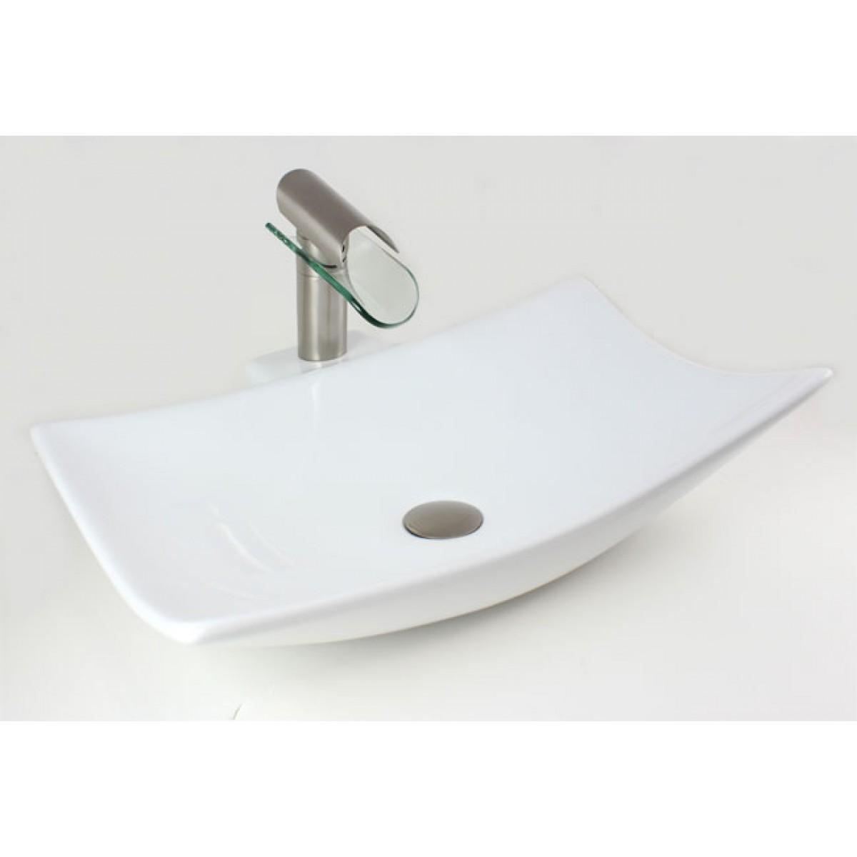 porcelain ceramic single hole countertop bathroom vessel sink x x 578 inch
