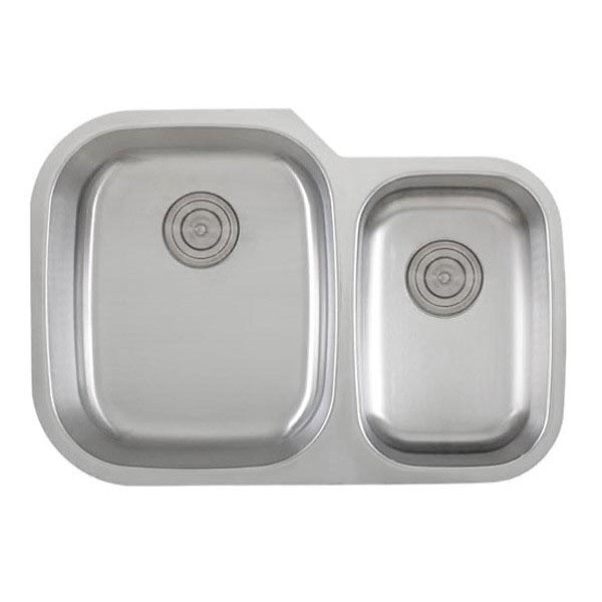 30 Inch 18 Gauge Stainless Steel Undermount 60 40 Double Bowl Kitchen Sink