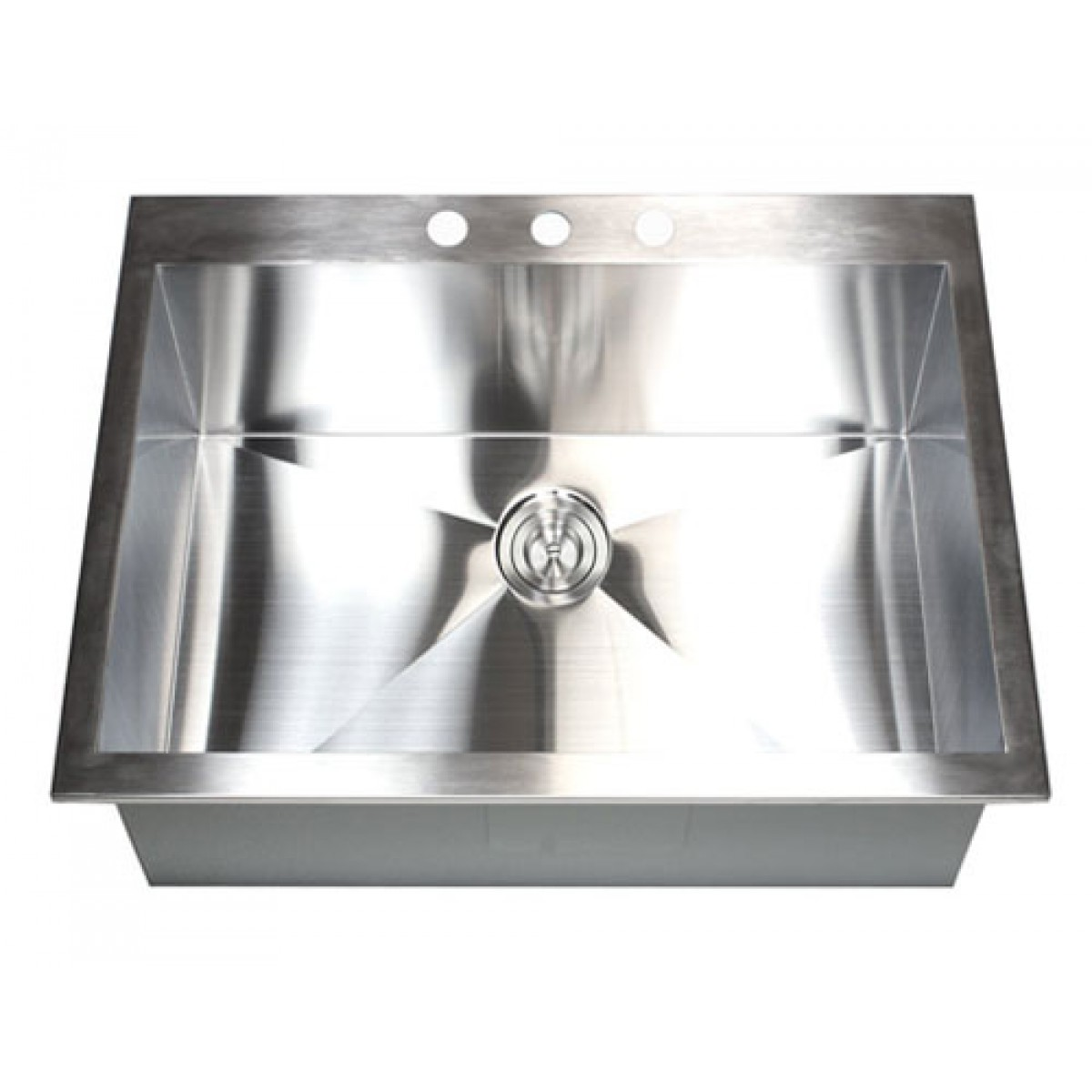 25 Inch Top-Mount / Drop-In Stainless Steel Single Bowl Kitchen ...