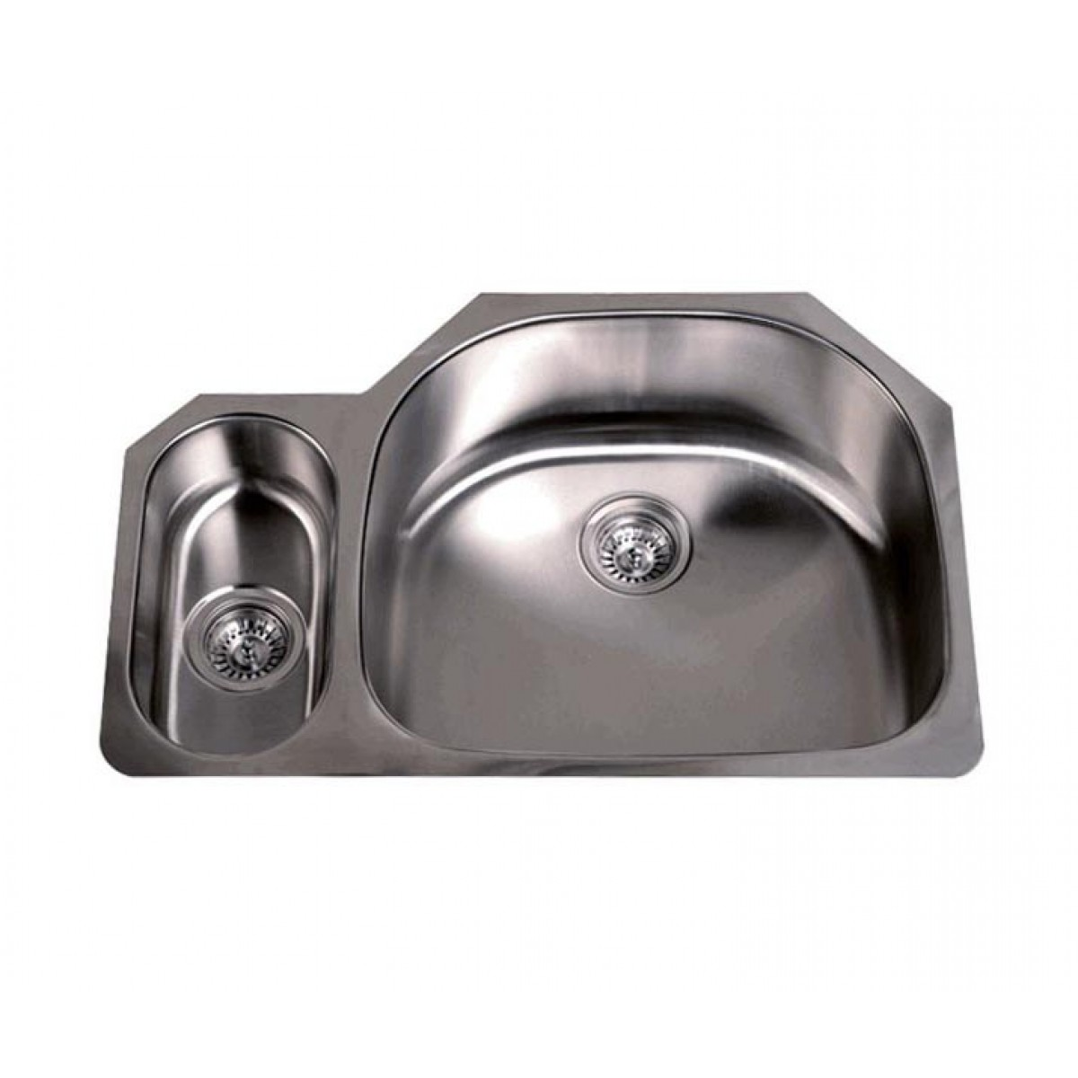 Small Double Sink Kitchen 32 inch stainless steel undermount 2080 double large and small d 32 inch stainless steel undermount 2080 double d bowl offset kitchen sink 16 gauge workwithnaturefo