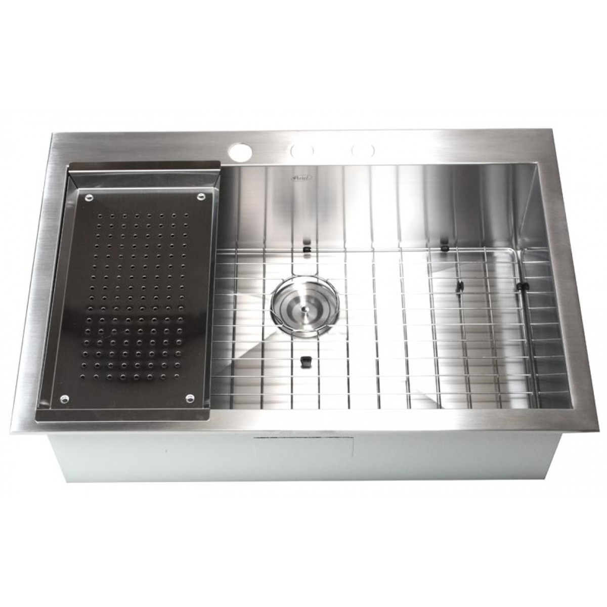 Top Mount Sink Kitchen: 33 Inch Top-Mount / Drop-In Stainless Steel Single Super
