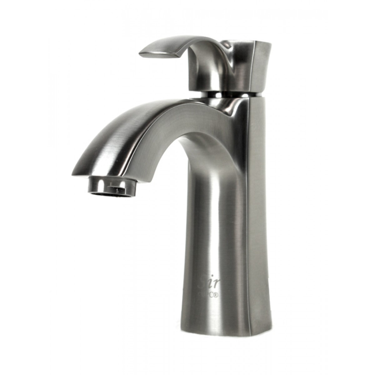 ... Nickel Bathroom Lavatory Vessel Sink Faucet - 6-1/2 x 3-1/4 Inch
