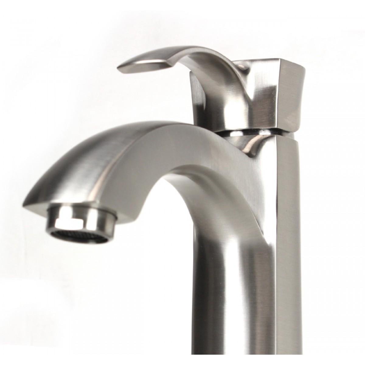 12 Inch Vessel Sink : ... Free Brushed Nickel Bathroom Lavatory Vessel Sink Faucet - 12 x 9 Inch