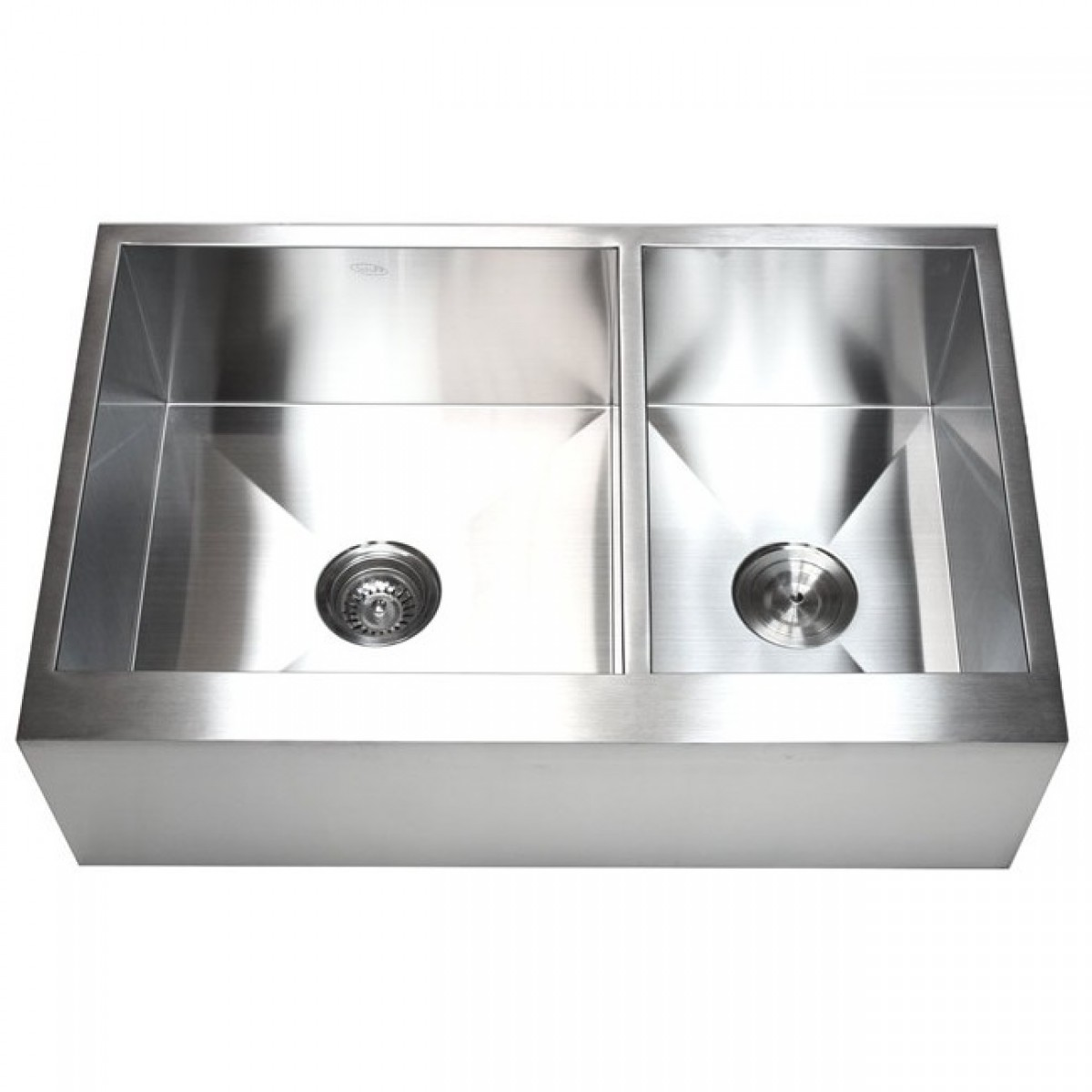 33 Inch Stainless Steel 60/40 Double Bowl Flat Front Farm Apron Kitchen Sink