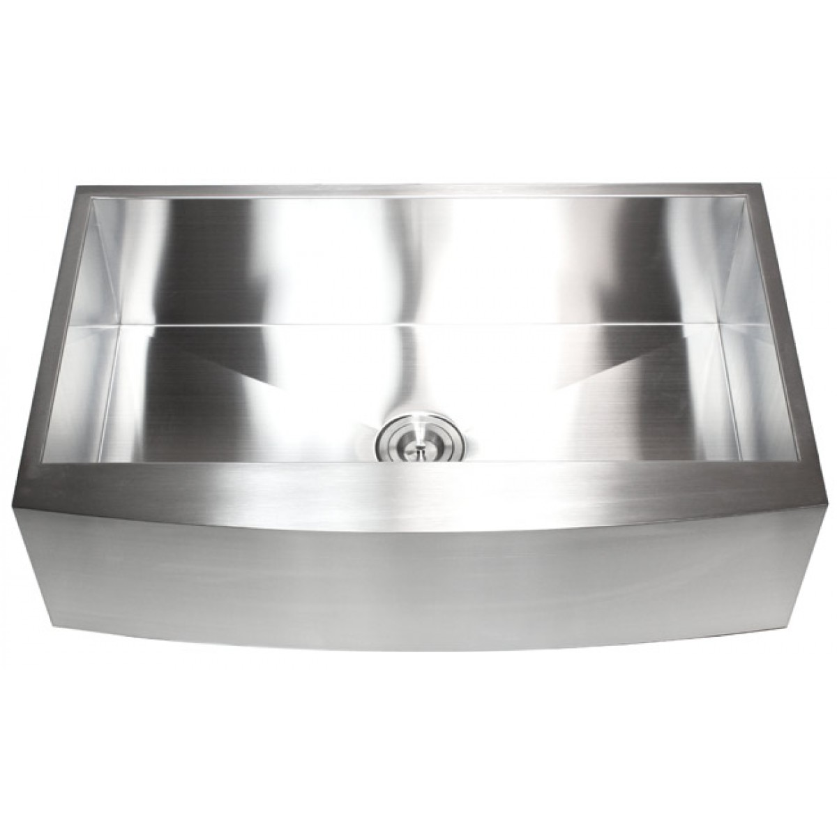 7 Inch Apron Front Sink : ... Inch Stainless Steel Single Bowl Curved Front Farm Apron Kitchen Sink