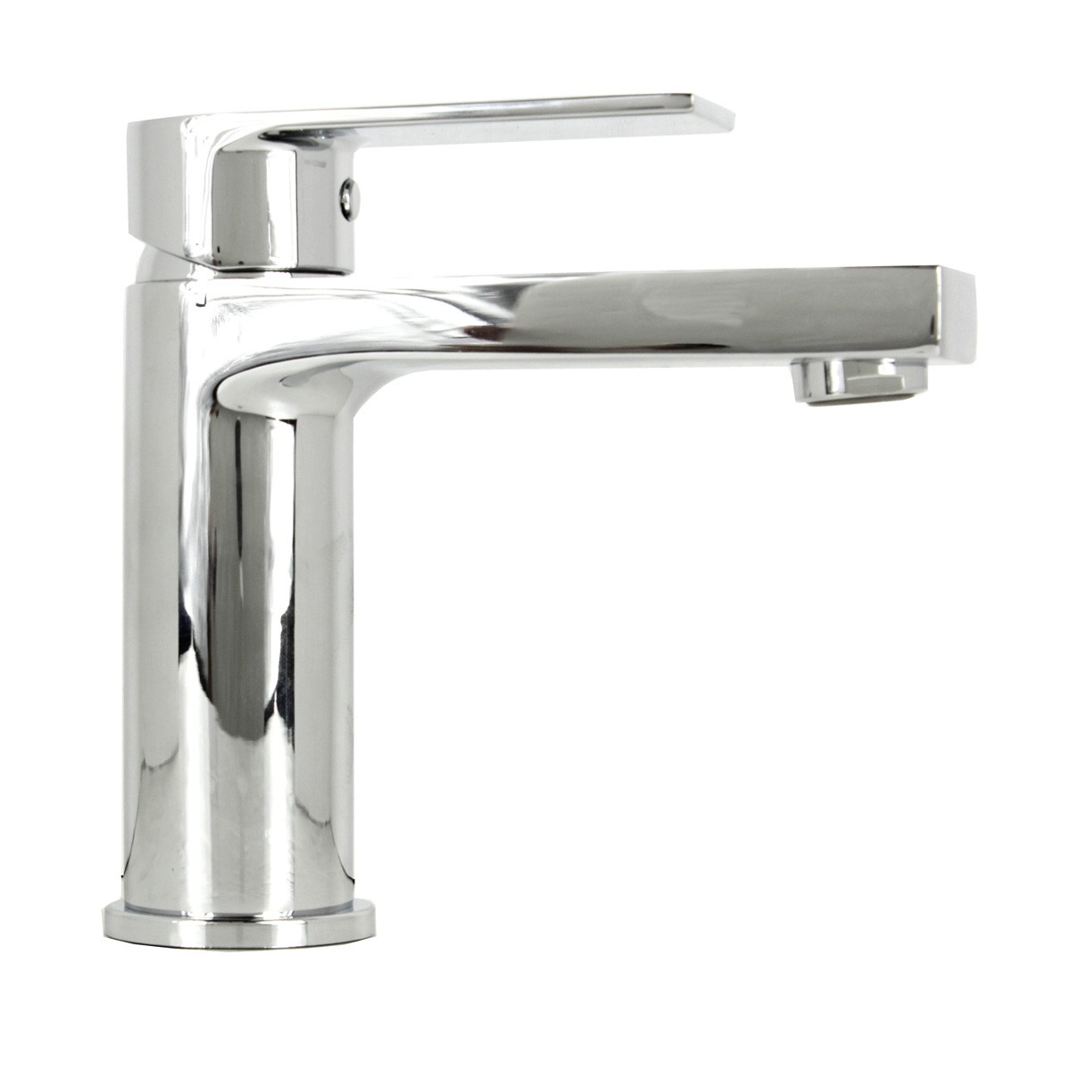 Anna polished chrome bathroom vessel sink single hole faucet for Single hole faucet bathroom sink