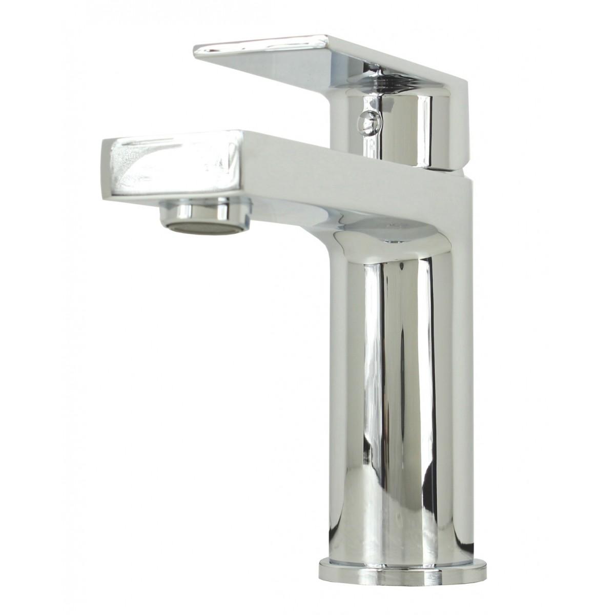 3 Hole Vessel Sink : Anna Polished Chrome Bathroom Vessel Sink Single Hole Faucet