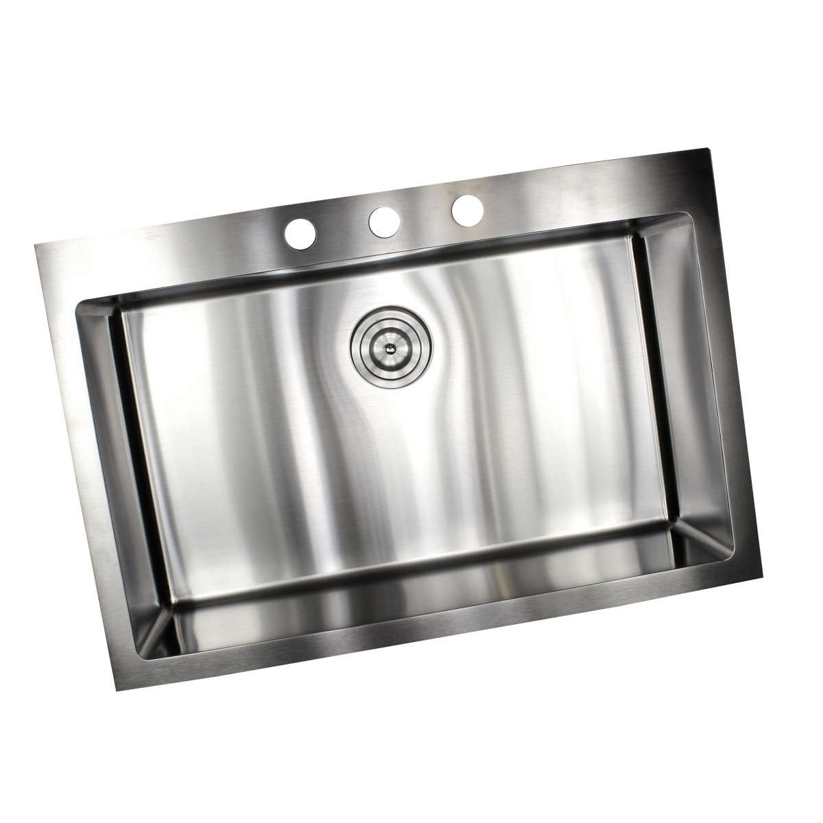 33 inch drop in top mount stainless steel single bowl - Kitchen sink package ...