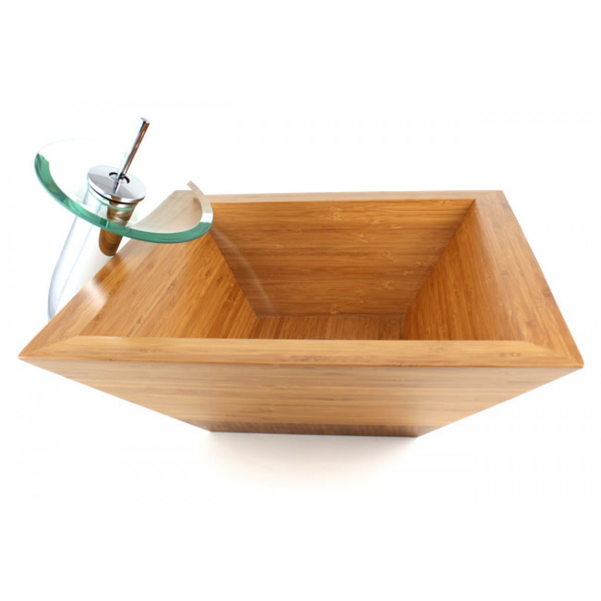 Guardian - Bamboo Countertop Bathroom Lavatory Vessel Sink - 16-3/4 x ...