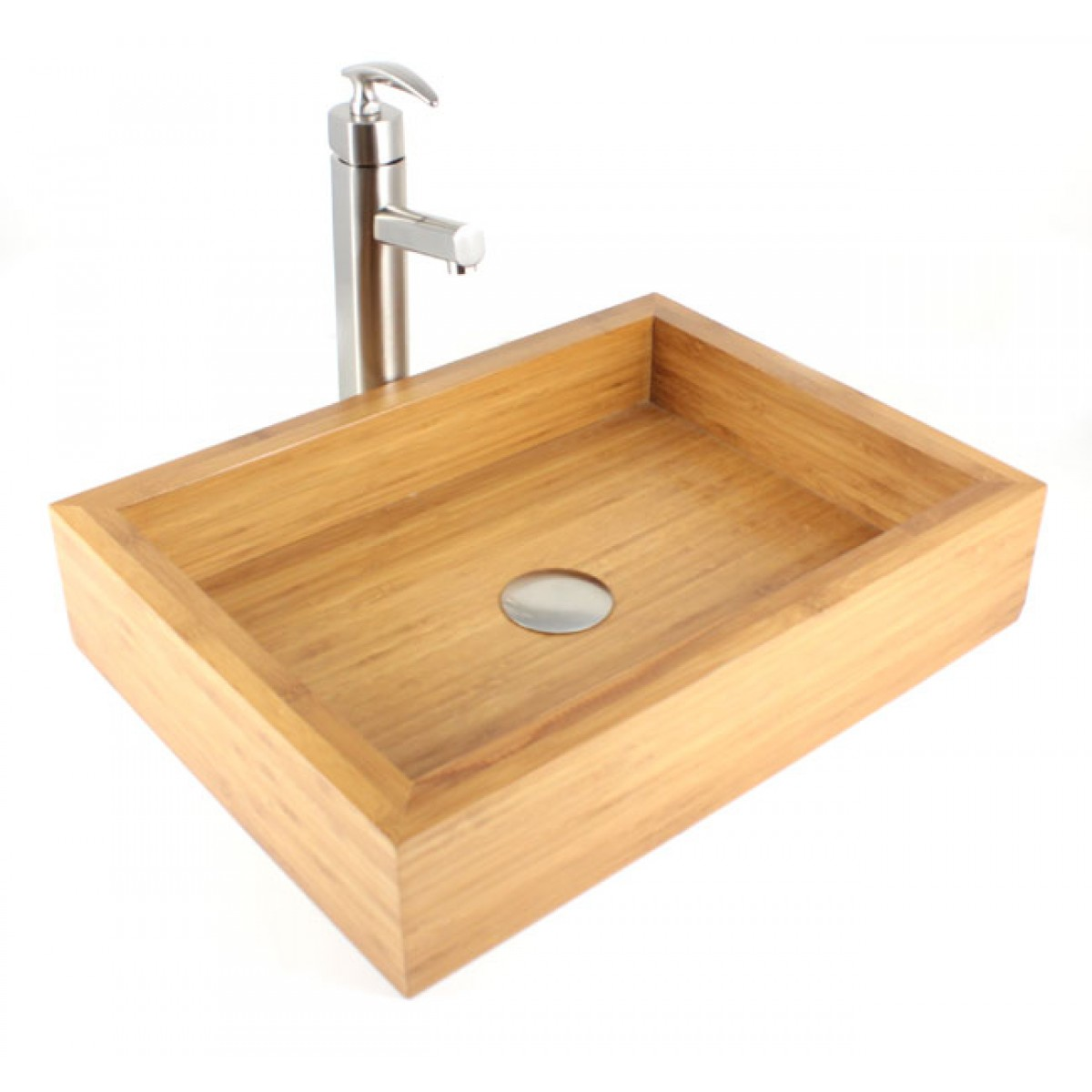 Irenic Bamboo Countertop Bathroom Lavatory Vessel Sink 18 7 8 X 14 4 1 Inch