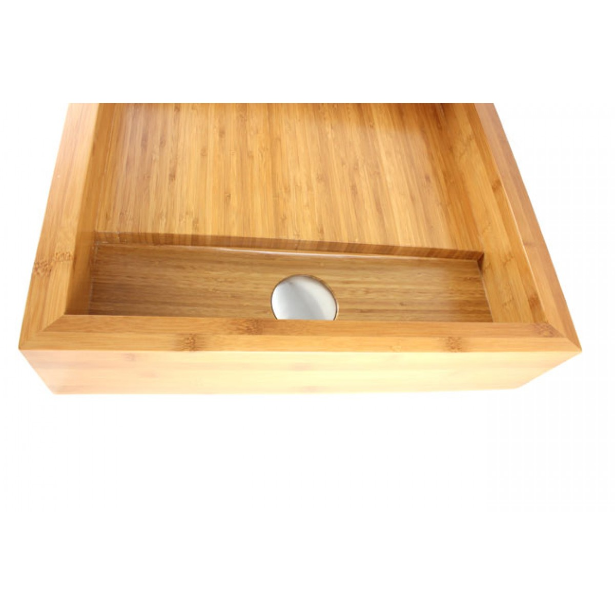 Countertop Height With Vessel Sink : Pure - Bamboo Countertop Bathroom Lavatory Vessel Sink - 19 x 17 x 4-1 ...