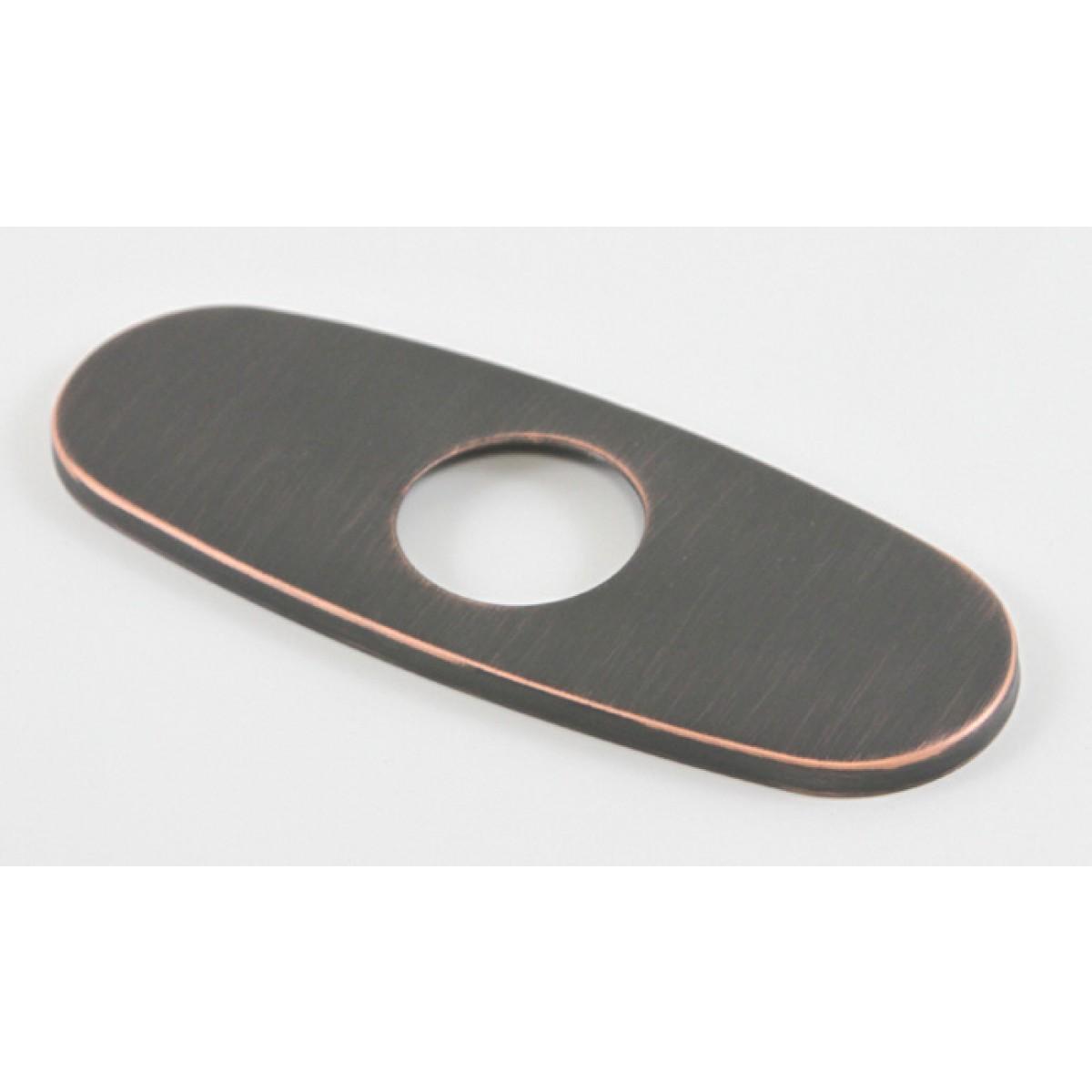 Bathroom Single Hole Sink Faucet Cover Deck Plate Escutcheon with Round  Corners - Venetian Bronze