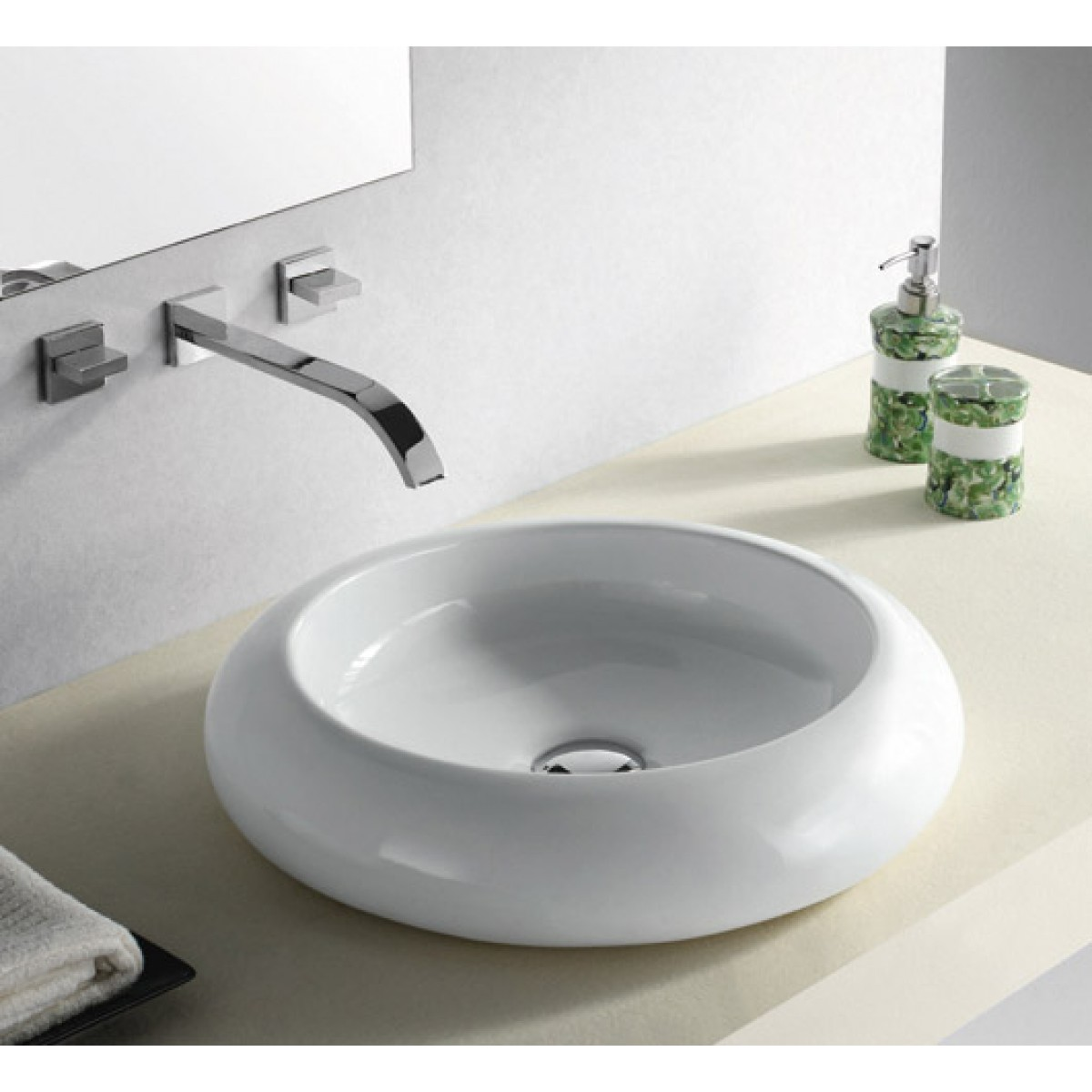 rounded edge white black porcelain ceramic countertop bathroom vessel sink 191