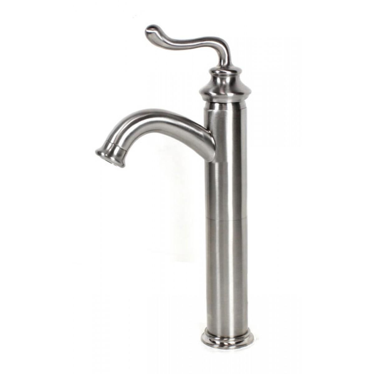 Lead free faucet brushed nickel bathroom lavatory vessel for 8 bathroom faucet in brushed nickel