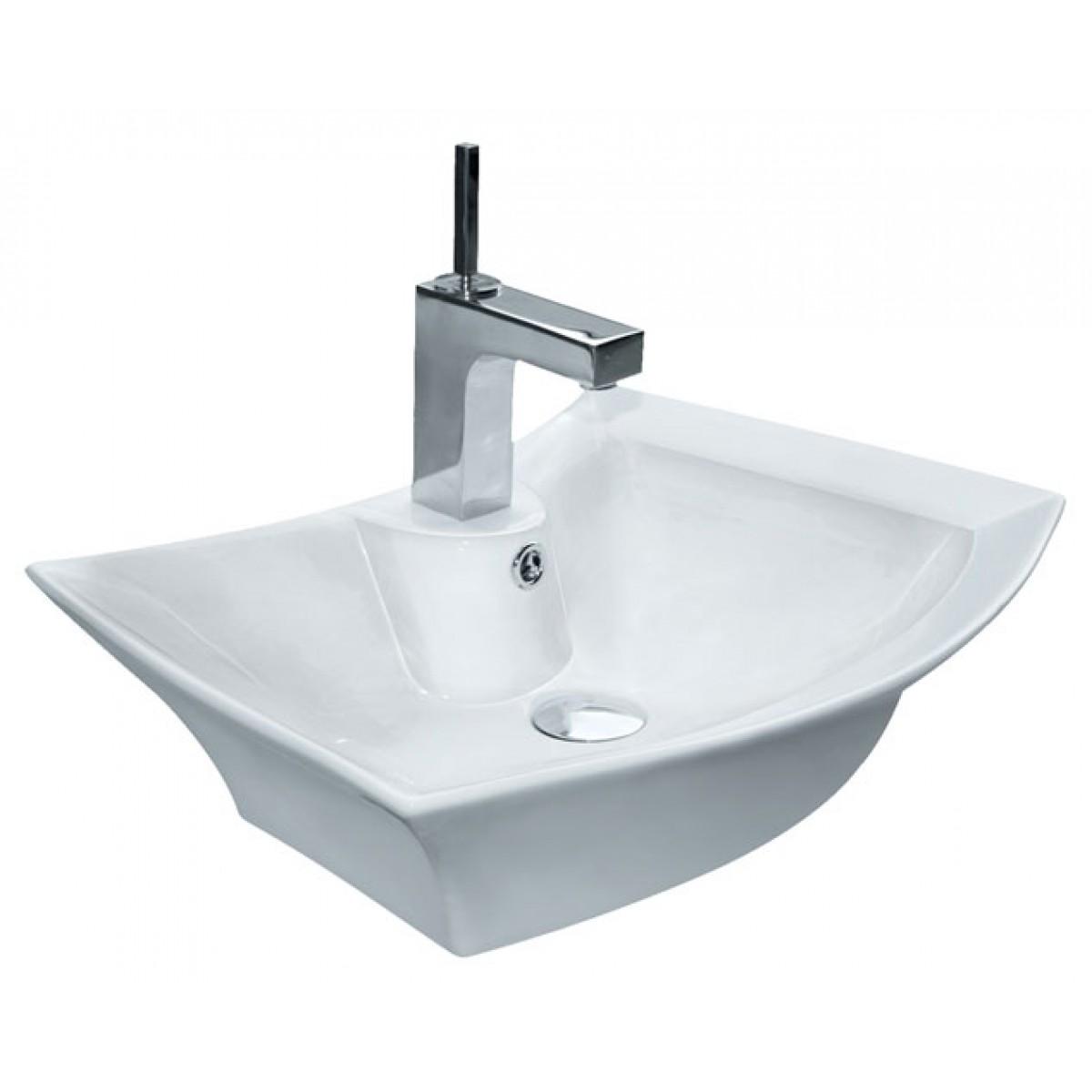 ... Single Hole Countertop Bathroom Vessel Sink - 23-3/4 x 17-3/4 x 6 Inch