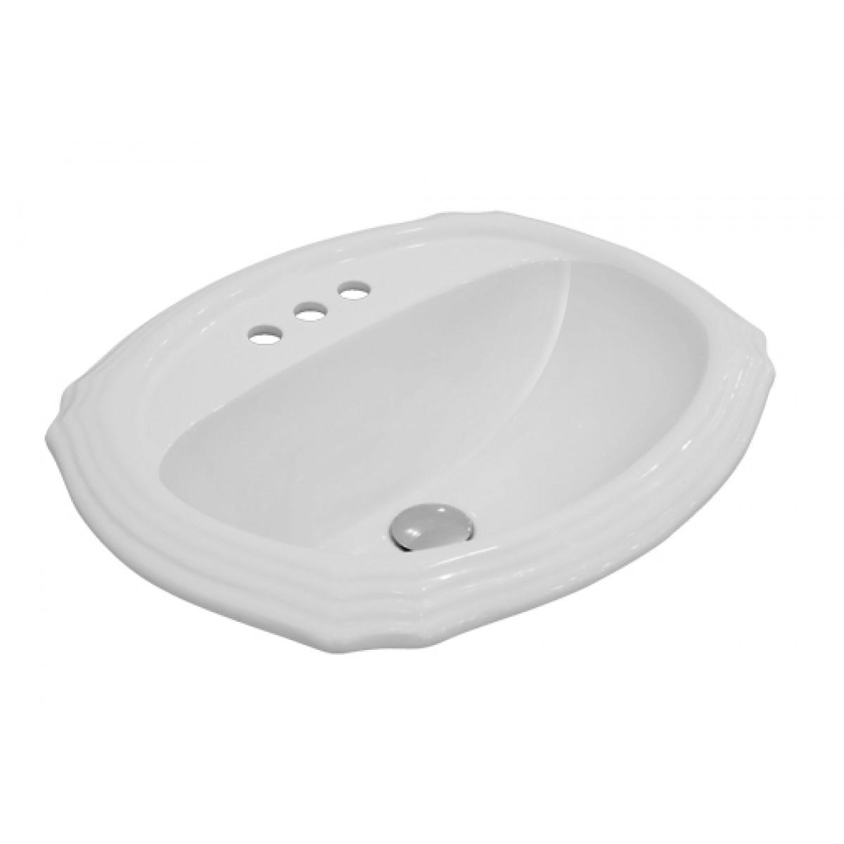Drop In Vessel Sink : ... Vanity Drop In Bathroom Vessel Sink - 22-15/16 x 19-3/8 x 6-3/4 Inch