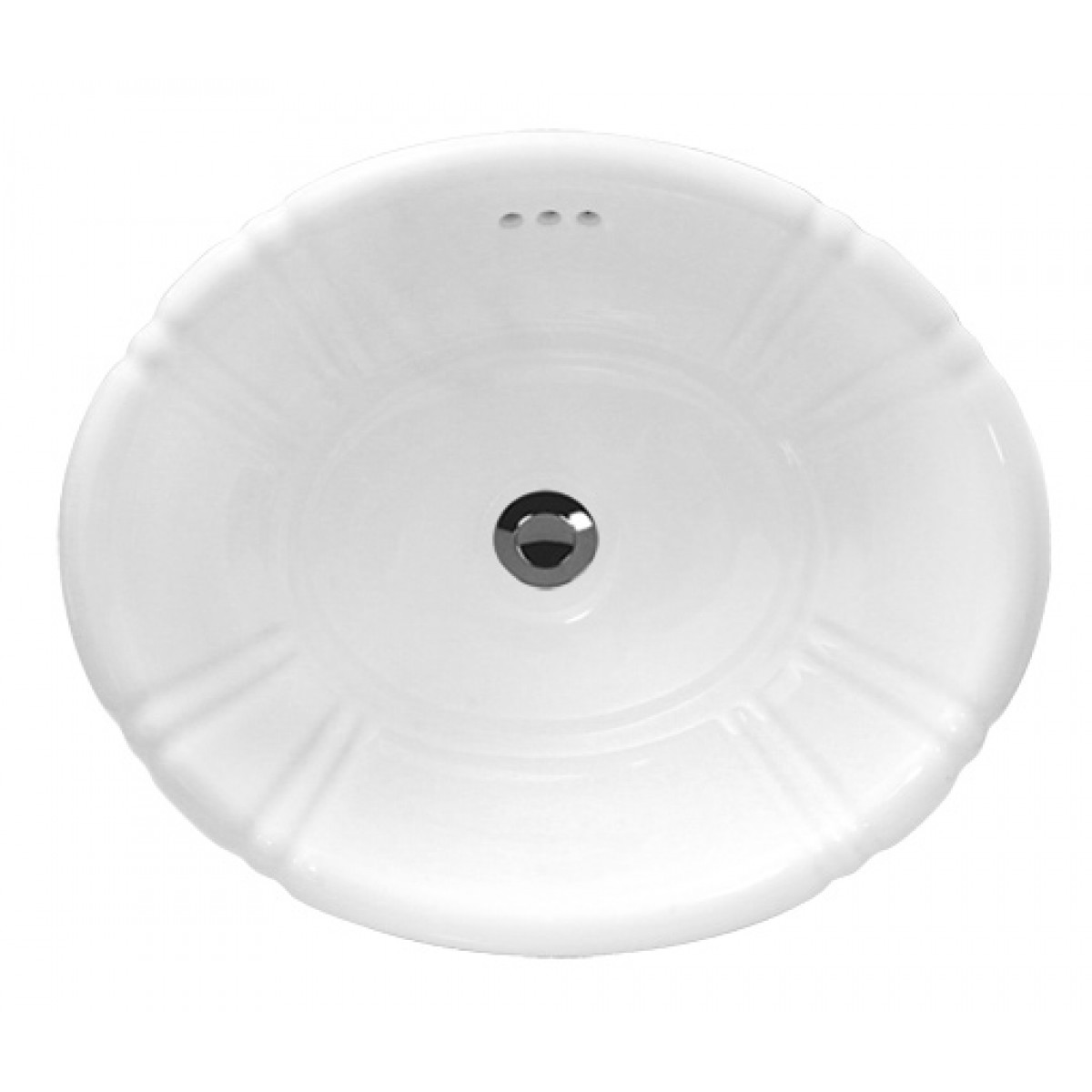 Drop In Vessel Sink : ... Ceramic Vanity Drop In Bathroom Vessel Sink - 18 x 15-1/2 x 6-1/4 Inch