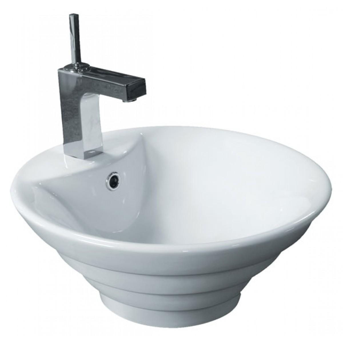 Sink Countertop Bathroom: Porcelain Ceramic Single Hole Countertop Bathroom Vessel