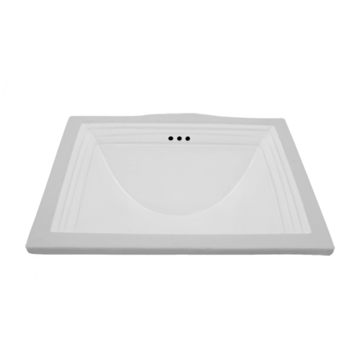 Rectangular White Porcelain Ceramic Vanity Undermount