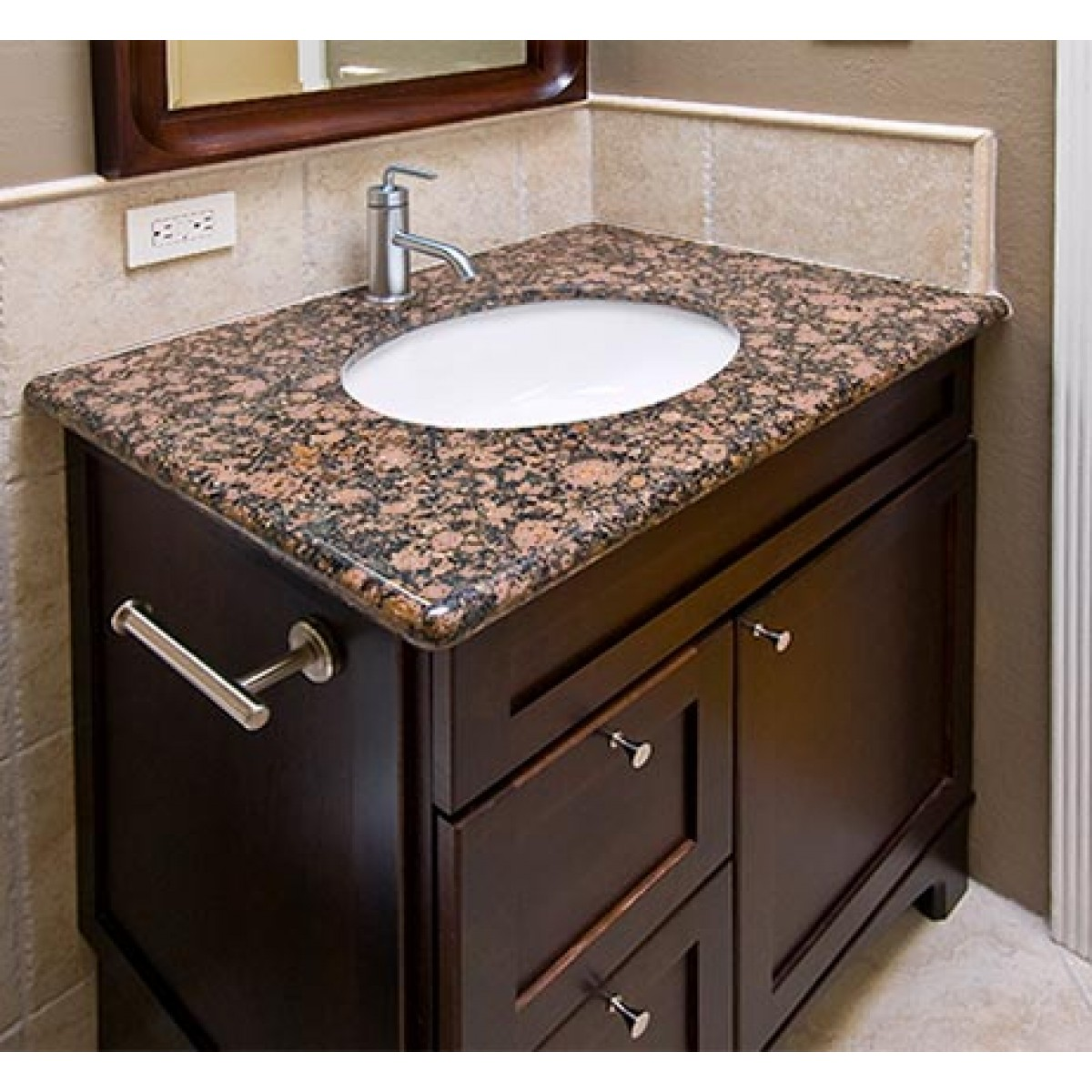Bathroom Sink 19 X 17 biscuit porcelain ceramic vanity undermount bathroom vessel sink