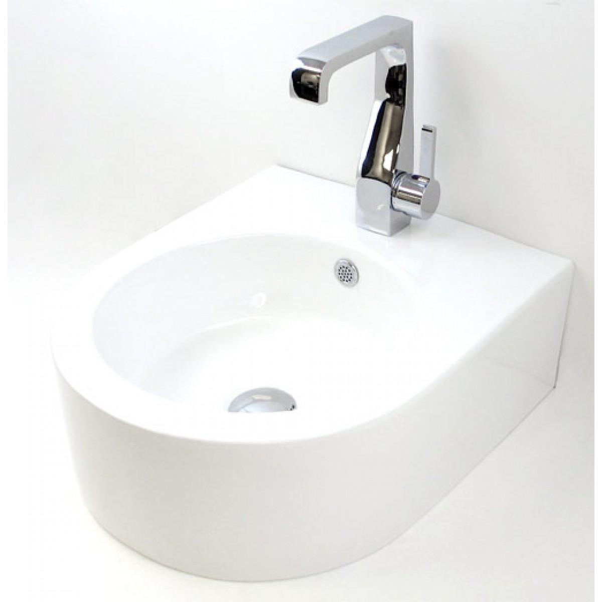 18 Inch Bathroom Sink : Porcelain Ceramic Single Hole Bathroom Sink - 22 x 18 x 6-1/2 Inch
