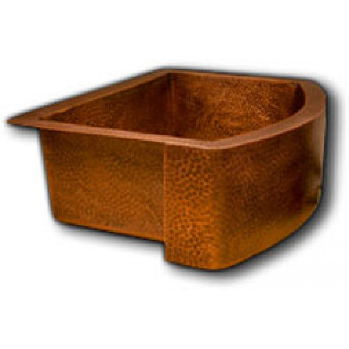 Finish Copper Single Bowl Curved Front Farmhouse Apron Kitchen Sink ...