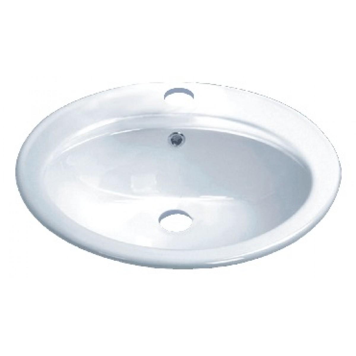 Porcelain Ceramic Vanity Drop In Bathroom Vessel Sink 22