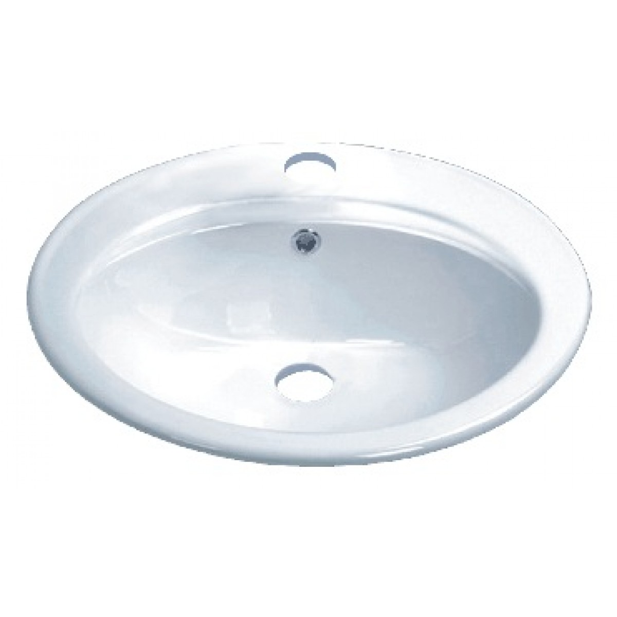 Drop In Vessel Sink : ... Ceramic Vanity Drop In Bathroom Vessel Sink - 22-1/4 x 19 x 8 Inch