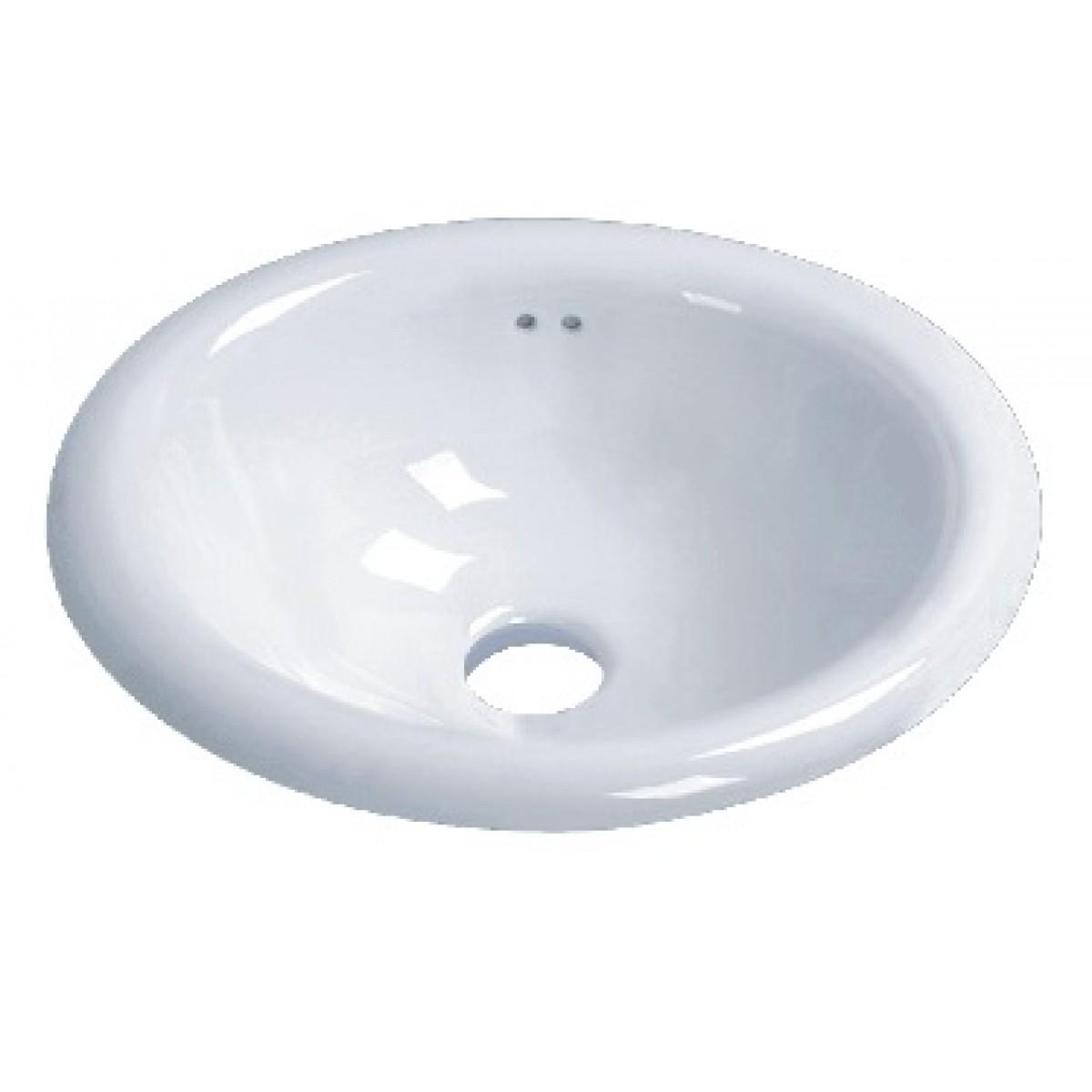 Porcelain Ceramic Vanity Drop In Bathroom Vessel Sink   17 1/2 X 15 X 7 1/2  Inch