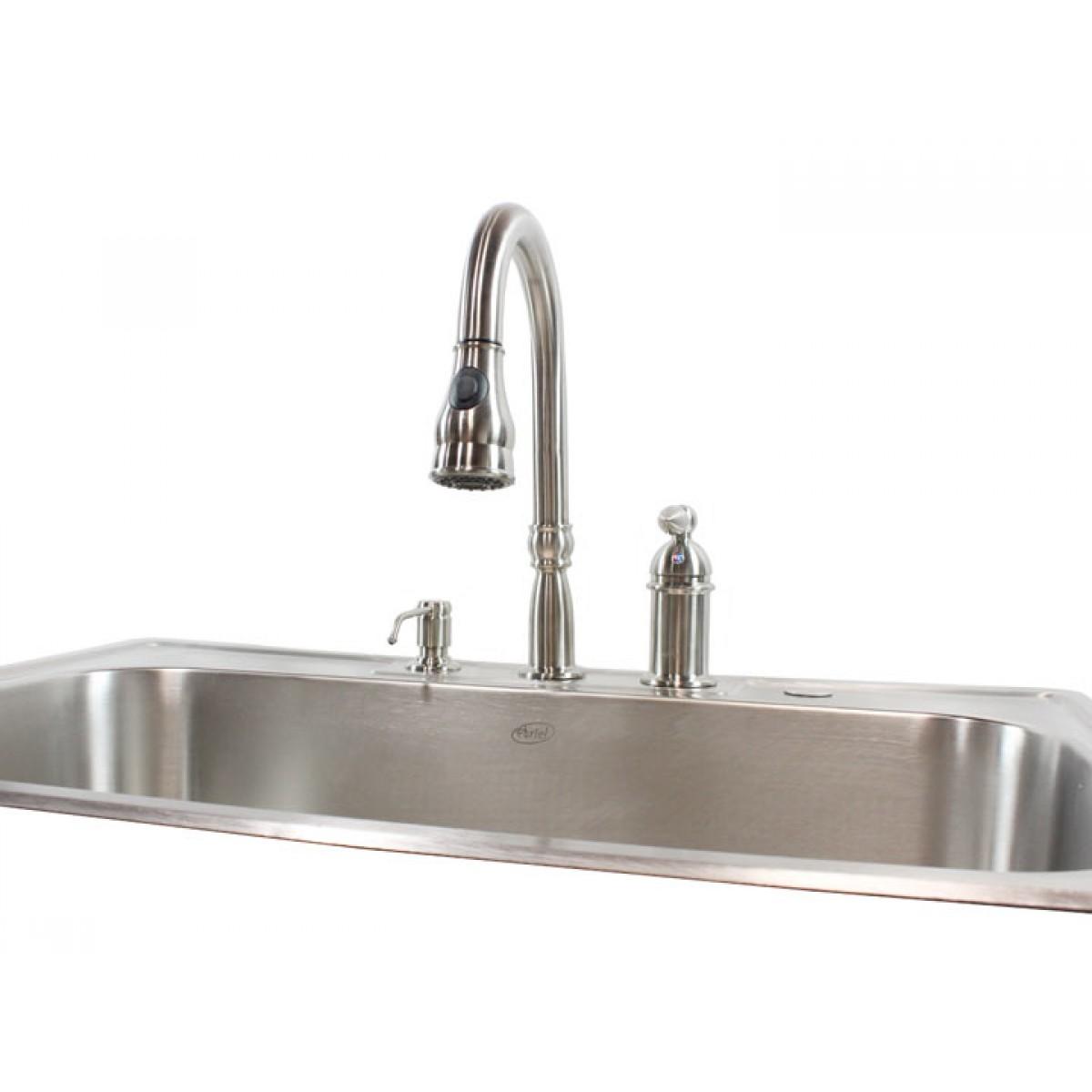 33 inch stainless steel top mount drop in single bowl - Kitchen sink drop in ...