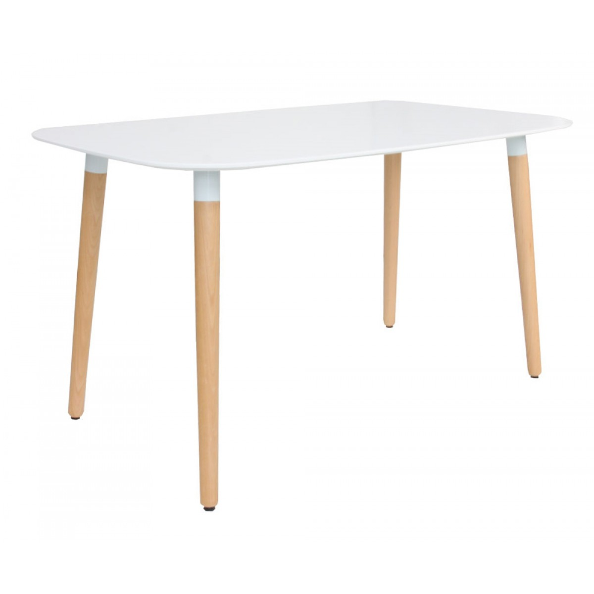 Eames style dsw white rectangular dining table for Table eames dsw