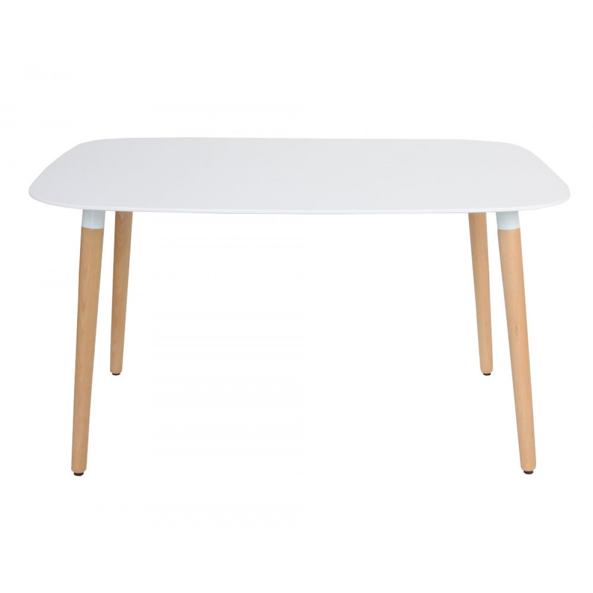 Eames Style DSW White Rectangular Dining Table