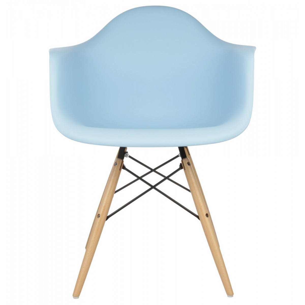 eames molded chair. Set Of 4 DAW Molded Light Blue Plastic Dining Armchair With Wood Eiffel Legs Eames Chair