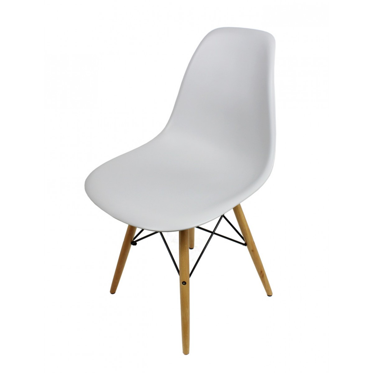eames style dsw light gray plastic dining shell chair with. Black Bedroom Furniture Sets. Home Design Ideas