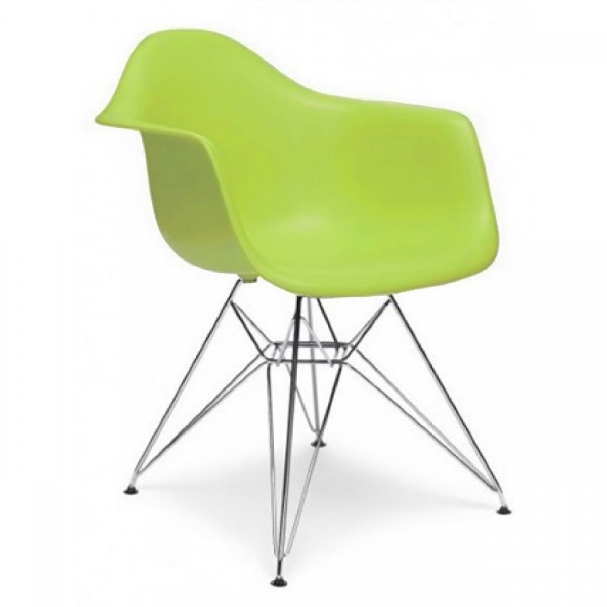 Eames Style DAR Molded Lime Green Plastic Dining Armchair  : eamesdargreen 13 from www.emoderndecor.com size 1200 x 1200 jpeg 87kB