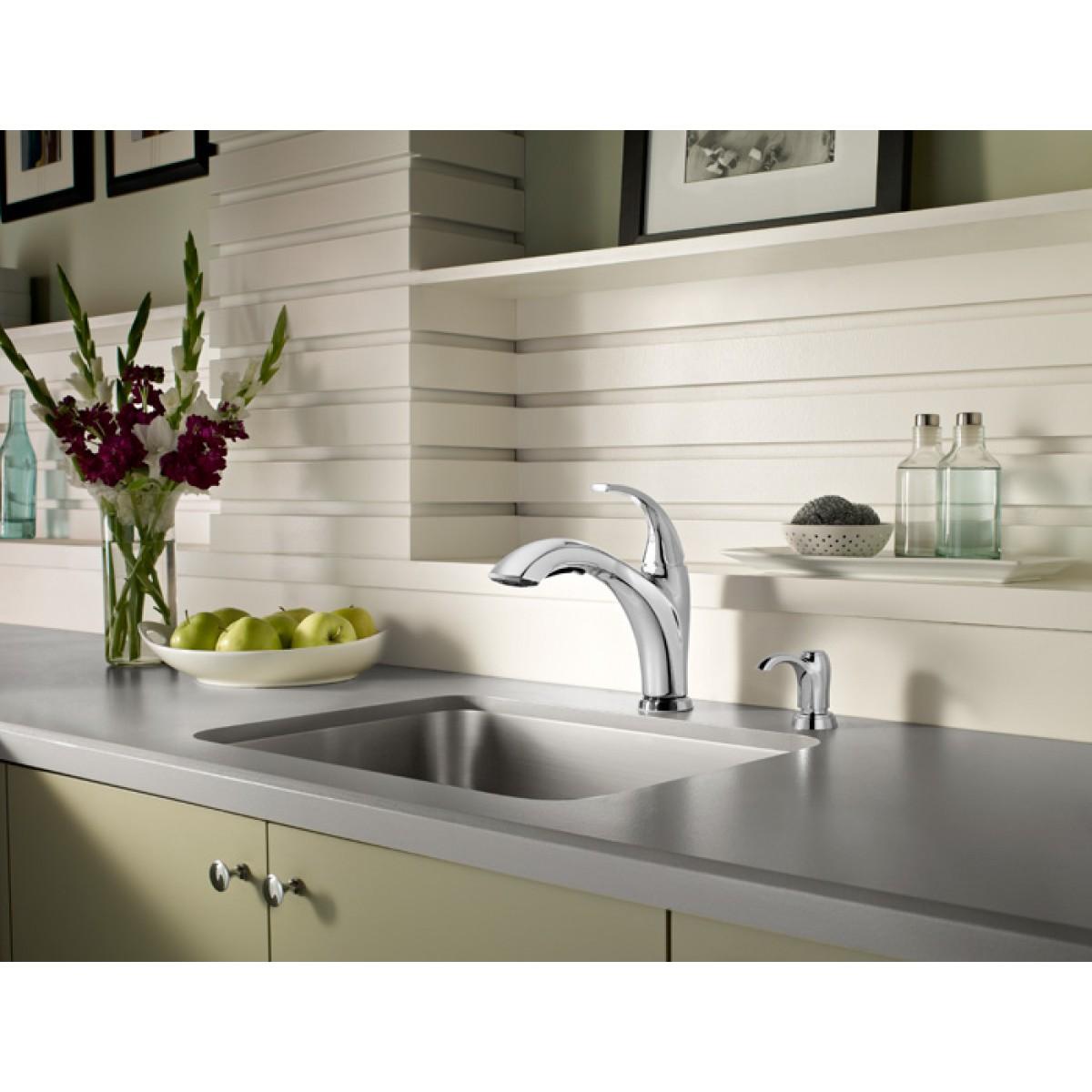Pfister Selia Lead Free Single Handle Pull Out Chrome Kitchen ...