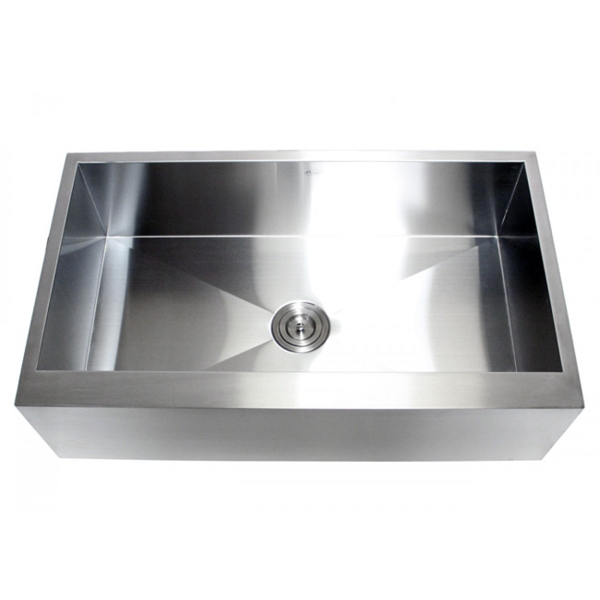 36 inch stainless steel single bowl flat front farm apron Stainless steel farmhouse sink