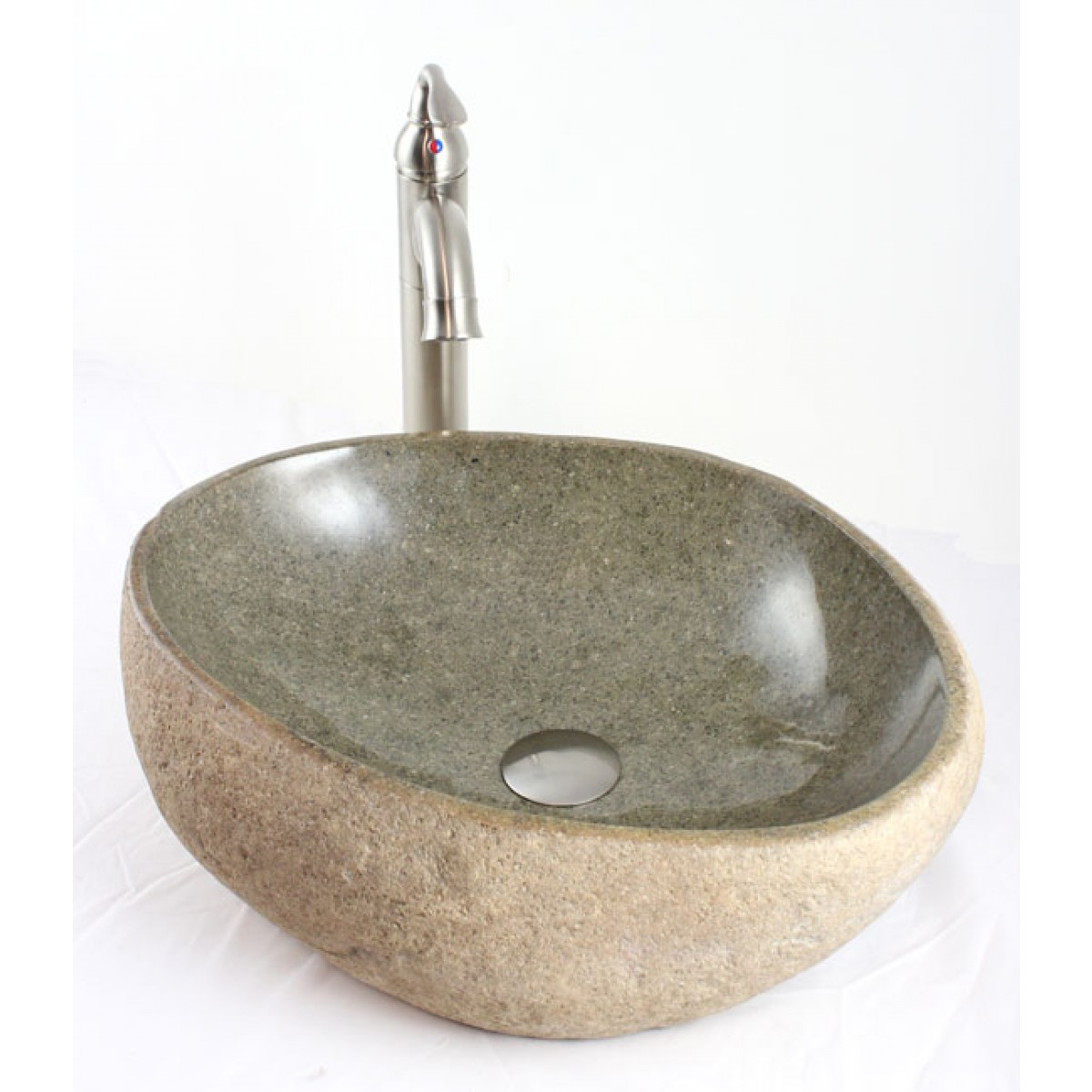 Natural River Rock Stone Bathroom Lavatory Vessel Sink