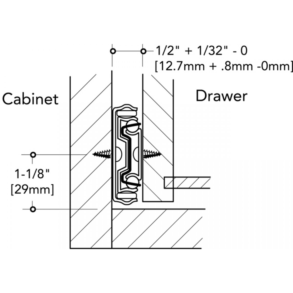 inch mount slide china pbvnezaybprj product slides drawer bottom rails drawers