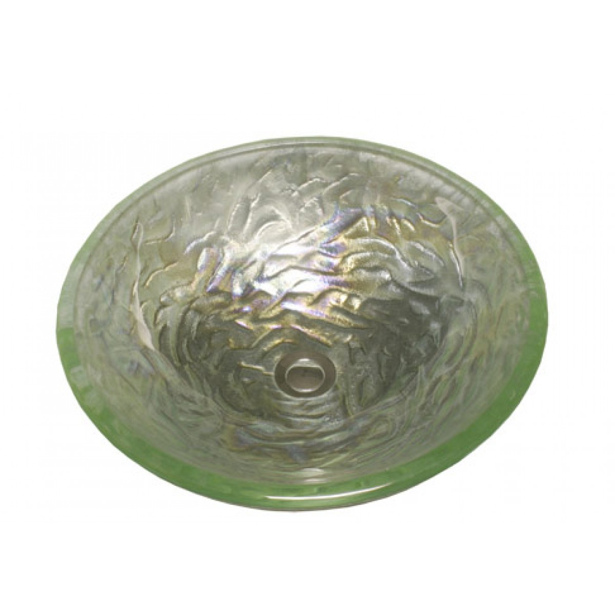 Pearl Lime Design Glass Countertop Bathroom Lavatory Vessel Sink   16 1/2 X  5 3/4 Inch Part 14