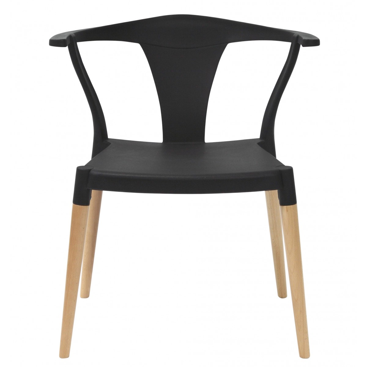 Icon Series Black Modern Accent Dining Arm Chair Beech