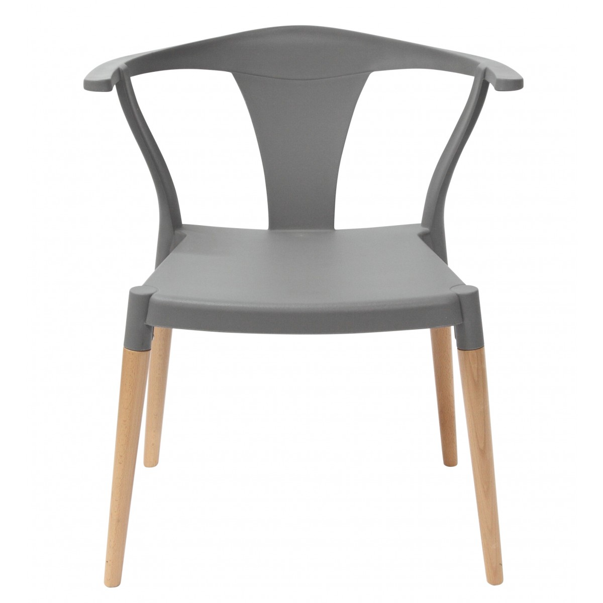 Icon Series Gray Modern Accent Dining Arm Chair Beech Wood