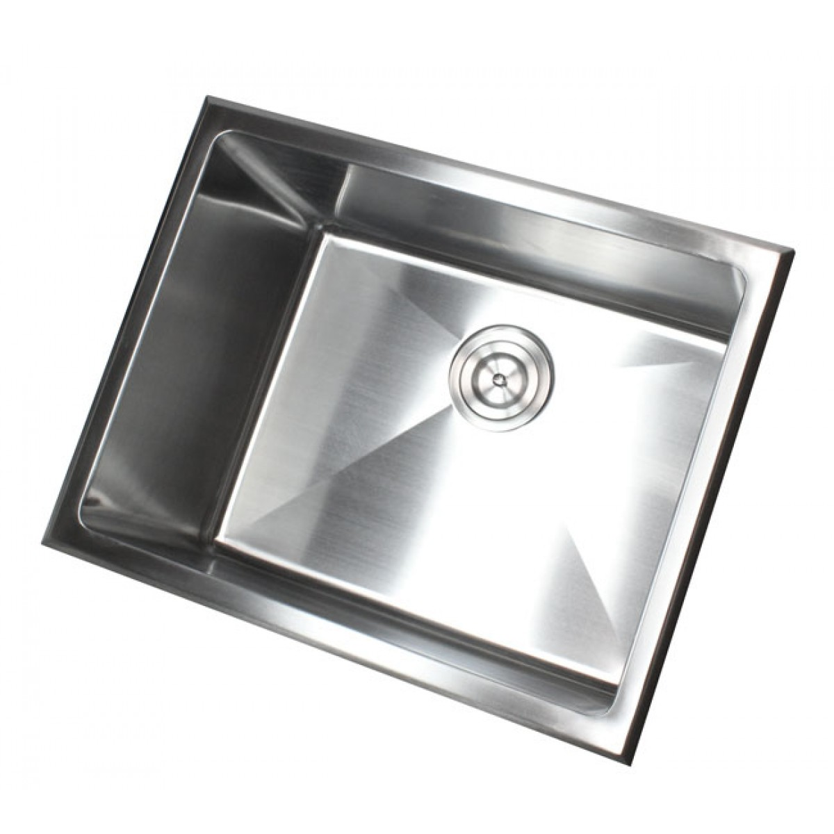 23 Inch Drop In Stainless Steel Single Bowl Kitchen / Utility / Laundry Sink  15mm Radius Design