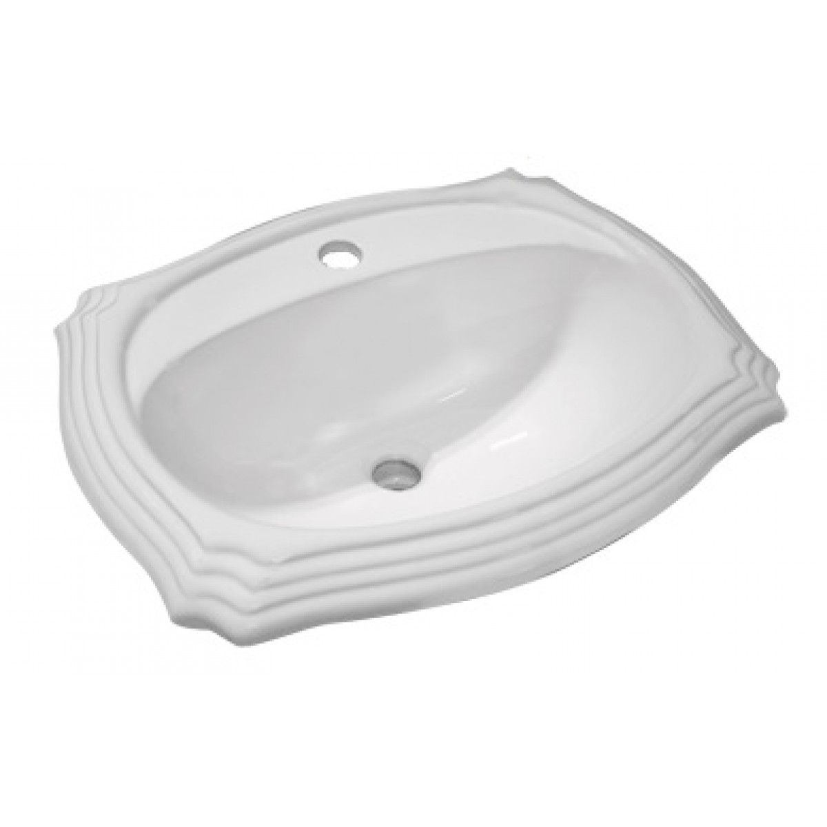 Porcelain Ceramic Vanity Drop In Bathroom Vessel Sink 17 1 2 X 15 X 7 1 2 Inch