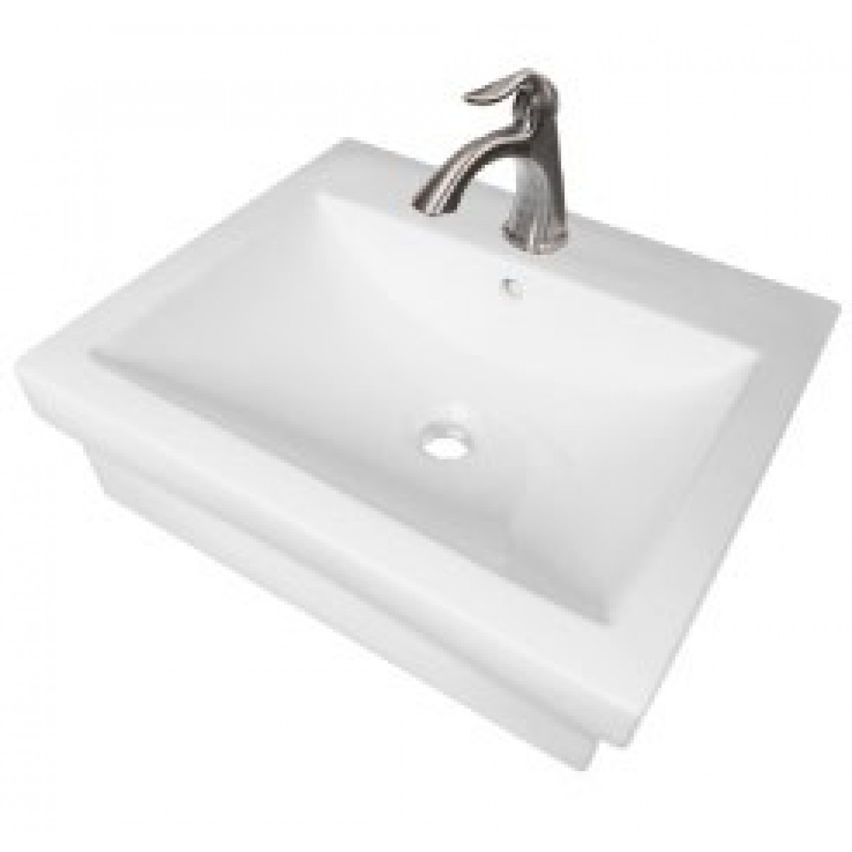 21 1 2 Inch Rectangular Porcelain Ceramic Single Hole Countertop Bathroom  Vessel Sink. Rectangular Porcelain Ceramic Single Hole Countertop Bathroom